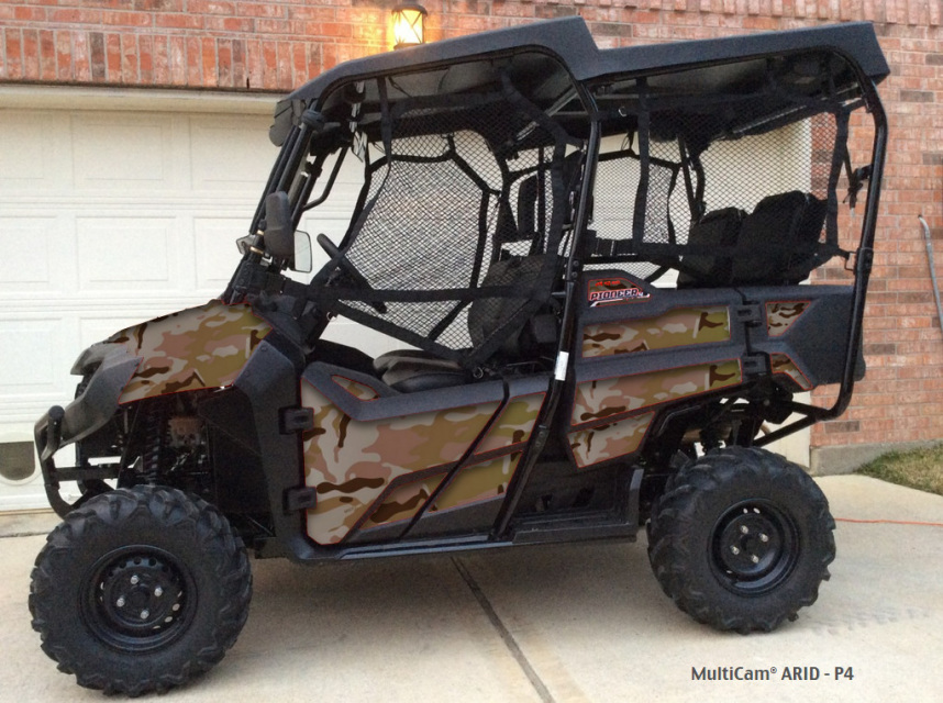 Multicam 174 Arid Camouflage Pattern Design For Honda Pioneer